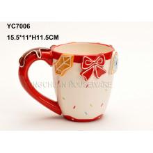Boda pintada a mano de cerámica taza