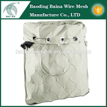 2015 alibaba china manufacture security wire mesh bag stainless protectors