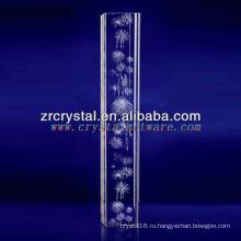 К9 3D лазерный фейерверк Вытравленный Кристалл с формой Штендера