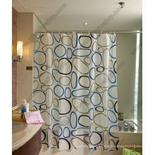 Cortina de ducha de patrón circular