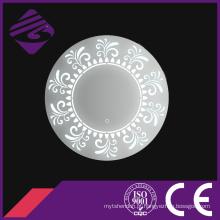 Jnh219 alta qualidade mais novo design redondo banheiro espelho com luz