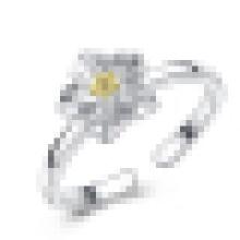 Девушки стерлингового серебра 925 Хризантема shaped кольцо открытие