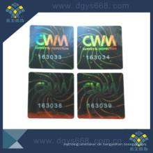 Farbverlaufs-Effekt-Laser-Hologramm Anti-Fälschungs-Aufkleber