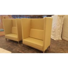 High Back Fabric Customized Office Restaurant Privacy Booth Seating