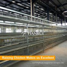 Sistema de jaulas de pollos de equipos de granja de aves de corral