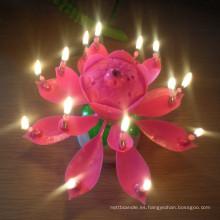 Uso de la vela / del partido de la cumpleaños de la música