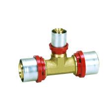 Th (raccord à pression) du té réducteur (Hz8511) pour tuyau Pex-Al-Pex, tuyau en plastique, tuyau de chauffage