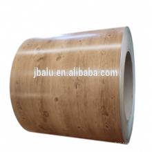 China fabricar preço de bobina de alumínio de grão de madeira por tonelada