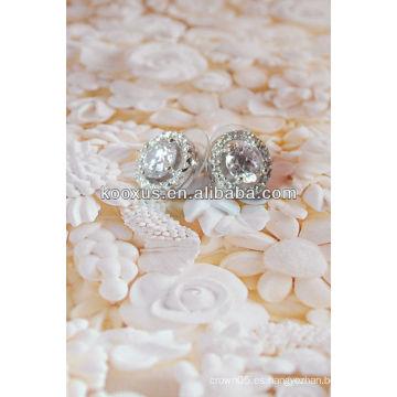 Pendientes clásicos de cristal con pave set stones stud earring