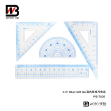 Blue Office Stationery Plastic Ruler Set for Student 2016