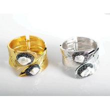 Joyería de la pulsera de la perla de la piedra preciosa de la aleación de la manera