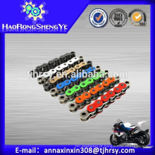 Corrente de motocicleta colorida 420/428 / 428H / 520 / 520H / 530 fabricada na China