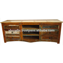 recylced wood tv cabinet