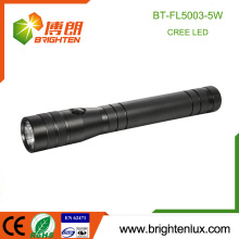 Hot Sale Portable Hand Held 3C Battery Powered Operate Long Range Bright Aluminum Cheap 5W Hunting best cree led flashlight