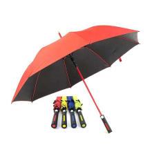 Matching Color Straight Auto Open Fibreglass Golf Umbrella
