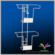 2 furos de parede de malha de arame em movimento metal suspenso prateleira de exibição