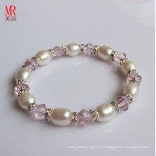 Bracelet élastique pour perles d'eau douce en gros Vente en gros