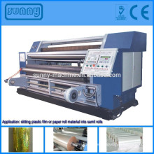 Full automatic Jumbo roll material high speed slitting and rewinding machine