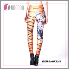 2015hot vender leggings animais baratos da impressão das caneleiras das senhoras da impressão da sublimação