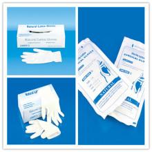 Guante quirúrgico de látex médico con CE, ISO, GMP, SGS, TUV