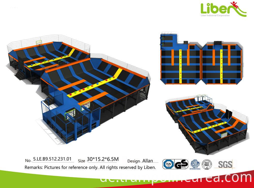 china gro es einkaufszentrum billig kinder indoor trampolin arena center hersteller. Black Bedroom Furniture Sets. Home Design Ideas