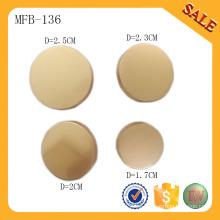 MFB136 Forme el botón en blanco del metal de la ropa botones de costura de encargo botones de la caña