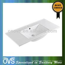 Fregadero de lavabo rectangular de alta calidad del baño de alta calidad