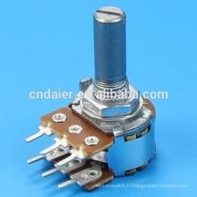 WH148-1B-2-N Potentiomètre rotatif à deux unités