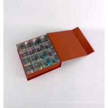 Caja de empaquetado de lujo elegante del chocolate del regalo de papel de la cartulina