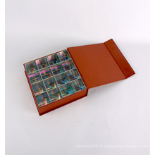 Boîte de luxe d'emballage de chocolat de cadeau de papier de carton de fantaisie