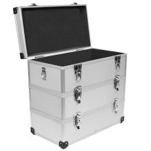 3 Ebenen Aluminium Tackle Box Bodenkoffer