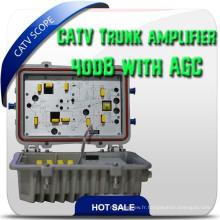 CATV Agc Bi-Directional 2 Way Trunk Amplifier
