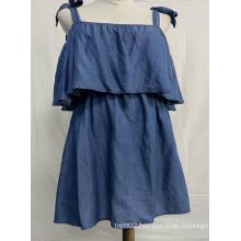 Sweet Girls Condole Belt Denim Skirt