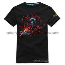 Горячая продажа хорошего качества хлопок Мужская печатная футболка