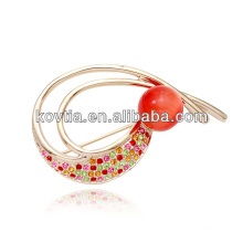 Charming ruby crystal decorative brooch wholesale