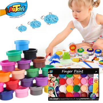 Usine de vente chaude directe facile à nettoyer et adapté aux enfants non-toxique peinture au doigt