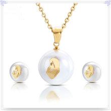 Jóias de aço inoxidável acessórios de moda jóias set (js0198)