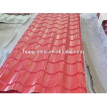 venda quente gi ondulado fábrica de chapa de aço ondulada de folha/folha/GI GL telhado