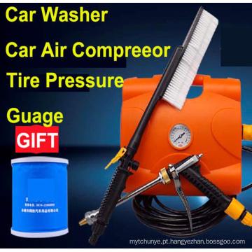 Chegada nova 3 em 1 Lavadora de Carro de Alta Pressão 12 V Lavadora de Carro máquina de lavar Carro Com compressor de Ar Do Carro inflator Carro bomba de carro