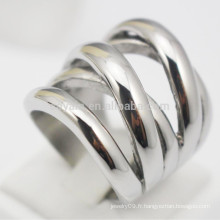 Nouveaux anneaux en acier inoxydable en acier inoxydable en forme de X pour les femmes