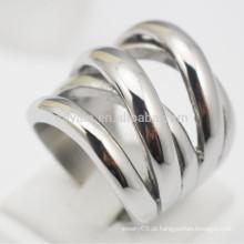 Novo X em forma de aço inoxidável prata punk anéis para mulheres