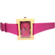Reloj de pulsera de alta calidad Hlw086 OEM de madera y reloj de madera Bamboo Watch