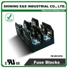 FB-M032PQ Equal To Busmann 600V 2 pólo Din Rail 30 Amp Fuse Base