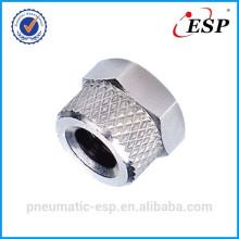 Raccord métallique pneumatique RM 5/3 pour écrou de blocage en tube plastique