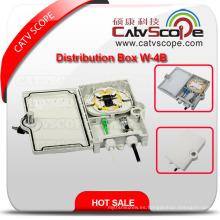 Caja de distribución óptica de fibra al aire libre de alta calidad W-4b / caja óptica de Termiantion
