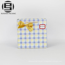 Customized logo print paper gift bag with handle