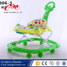 Swivel Wheel Plastic Baby Gehwagen China / Baby Walker mit guter Qualität und Musik / Kunststoff Spielzeug Stil Baby Walker Sitzbezug