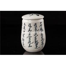 Caligrafia chinesa Porcelain Tea Canister