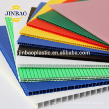 JINBAO colorful pp corrugated roofing sheets hollow boards 5mm