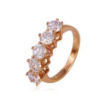 Элегантное золотое позолоченное медное кольцо с синтетическим покрытием CZ